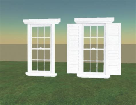 colonial style windows second life marketplace a very beautiful colonial style