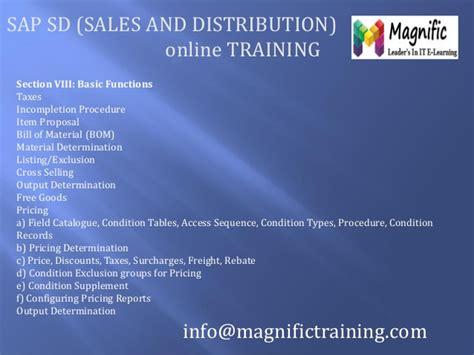 sap tutorial sales and distribution sap sales and distribution tutorial ppt