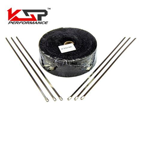 ?Kingsun Exhaust Pipe Tape ? Header Header Thermal Wrap 2 X 50' ? Black Black With Ties