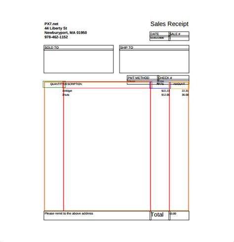 sales receipt template pdf sle sales receipt template 10 free documents in word