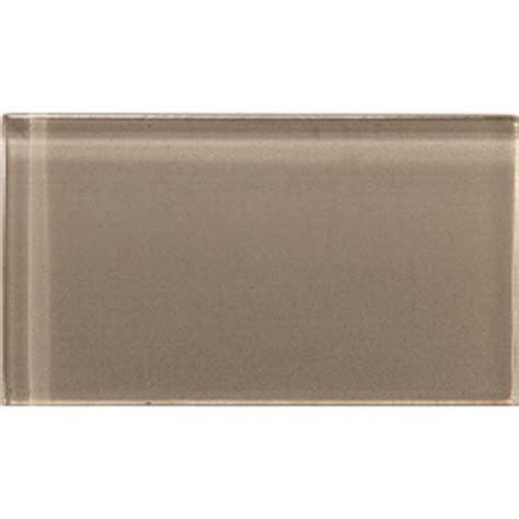 shop emser lucente soft mauve glass wall tile common 3 in x 6 in actual 3 15 in x 6 43 in