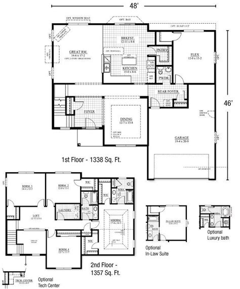 house plans floor master new two story house plans with master bedroom on floor new home plans design