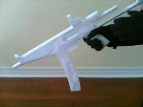 How To Make A Paper Mp5 - improved paper mp5 re upload