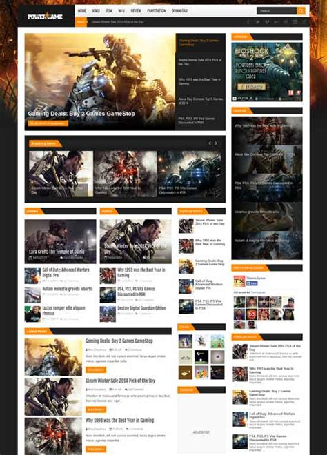 templates blogger for games 34 best free gaming responsive blogger templates techclient