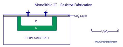 resistors manufacturing process monolithic ic fabrication process transistor diode resistor production
