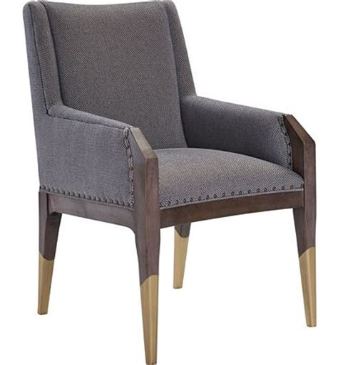 tates upholstery tate arm chair with gilded legs from the hable for hickory
