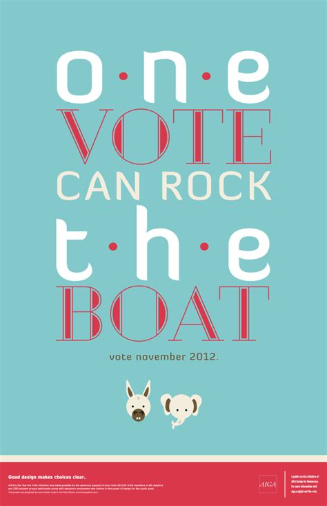aiga design for democracy one vote can rock the boat - Rock The Boat Voter Registration