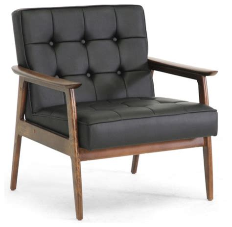 black mid century modern club chair contemporary
