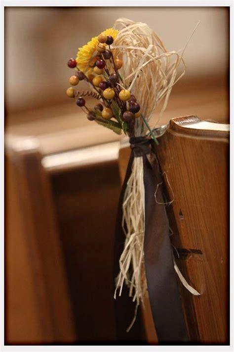 fall pew decorations for weddings fall wedding pew decorations stuff
