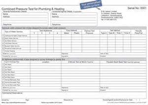 Pressure Test Certificate Template by Plumbing Certificates