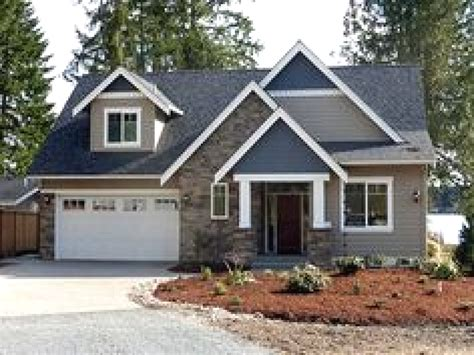 lake home plans craftsman style lake house plan with walkout basement