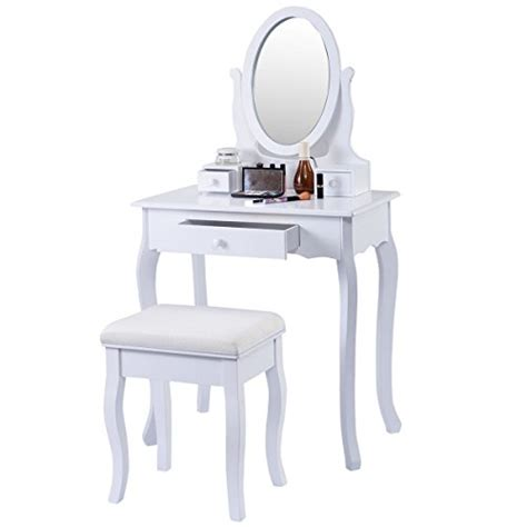 white vanity bench giantex white vanity table jewelry makeup desk bench dresser w stool 3 drawers