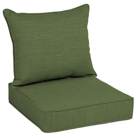 Shop Allen Roth Texture Deep Seat Patio Chair Cushion Patio Furniture Seat Cushions
