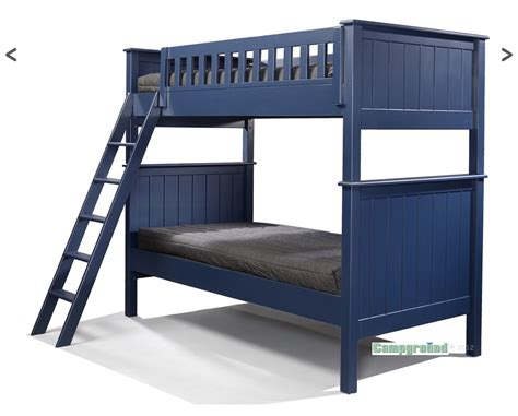 Cground Collection Twin Over Twin Bunk Bed In Navy Blue Pictures Of Bunk Beds For