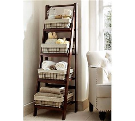bathroom storage ladder decorating with ladders 25 creative ways the cottage market