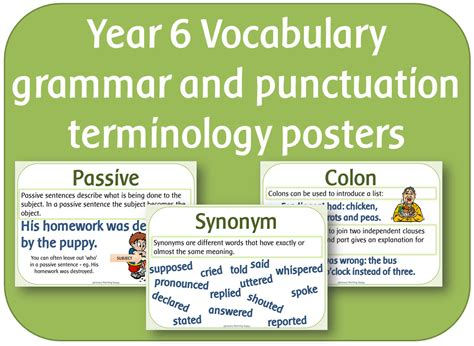 grammar and punctuation year year 1 vocabulary grammar and punctuation terminology