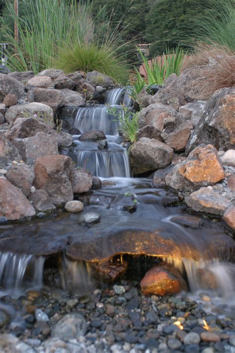 aquascape waterfall foam get your pond in on the christmas light action the pond blog