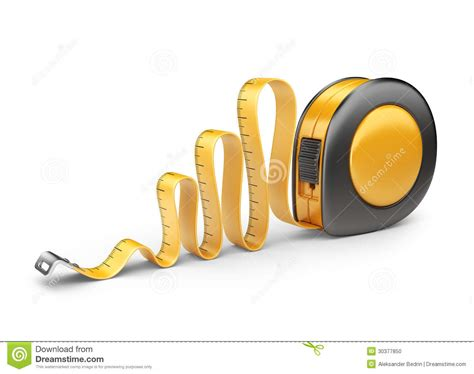 Garage Designer Tool tape measure ruler 3d icon isolated stock photo image