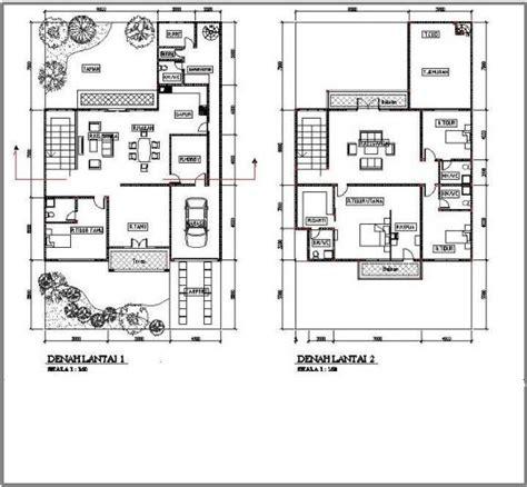 gambar contoh denah rumah minimalis 2 lantai modern 2017 lensarumah