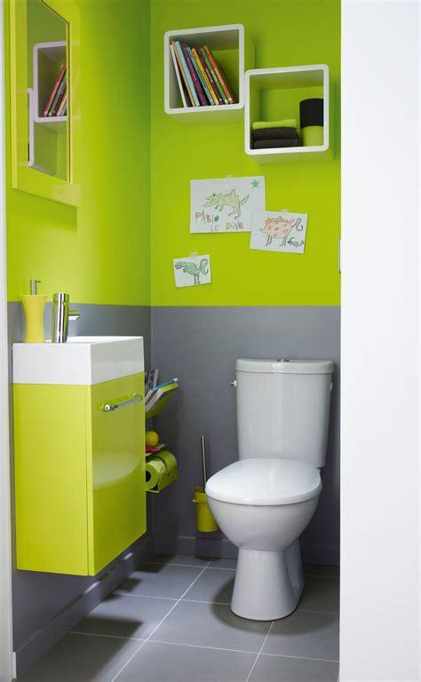 Salle De Bain Vert Et Marron 5428 by D 233 Co Toilettes Vert Et Marron