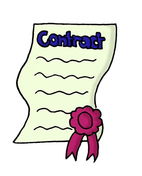 Agreement Clipart contract clipart