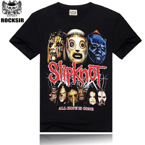 fashion 3d design slipknot rock band printed t shirt summer style cotton high quality t