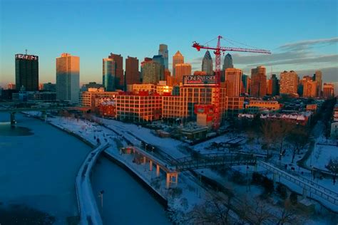 philadelphia inquirer travel section watch drone video showcases a snowy philadelphia