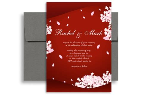 asian wedding card template classic asian indian flower wedding invitation templates