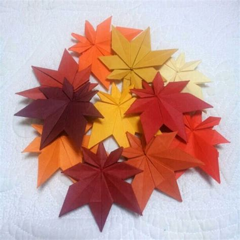 Origami Maple Seed - origami maple leaves and leaves on