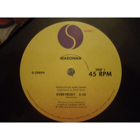 Promo 3 In 1 List Chroom Plus Ring Stand Vivo Y55 Madonna Everybody Pochette Promo Us 12 Inch 45 Rpm For