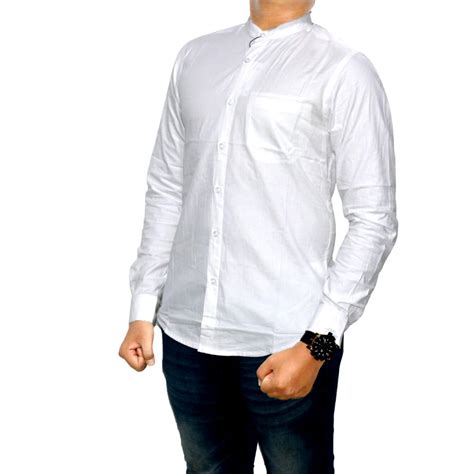 Kemeja Panjang Black List kemeja panjang polos black simple kerah sanghai baju cowok