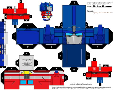 Cubee Papercraft - cubee prime 1 by cyberdrone on deviantart