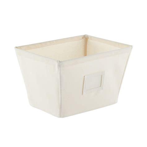 canvas storage bins fabric storage bins natural open canvas storage bins