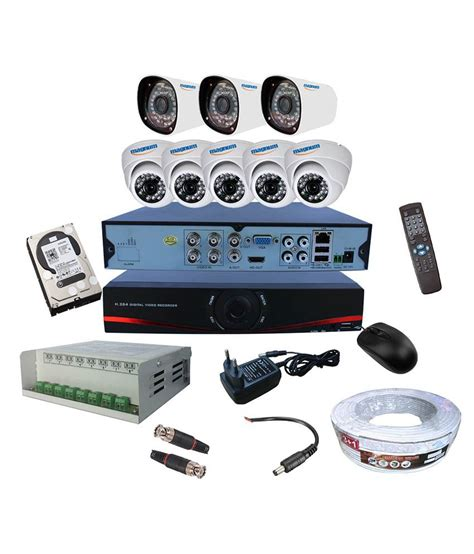 Hardisk Dvr Cctv magnum elite combo of 8 5 dome 3 bullet ahd cctv with ahd dvr with 1000gb disk