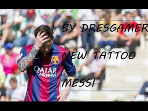 tattoo messi for pes 2016 new face hair tattoo messi 2015 2016 pes 2013 pc youtube