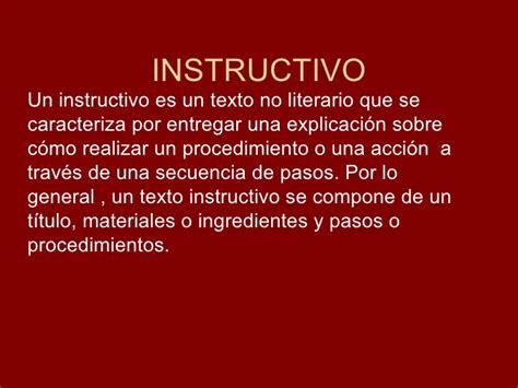 Que Son Los Instructivos   instructivo