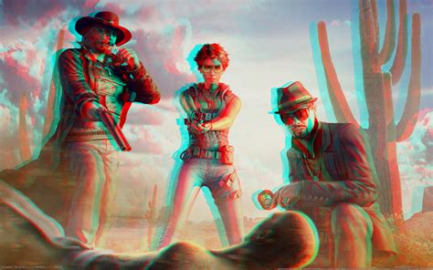 wallpaper 3d red cyan call of juarez 3d red cyan anaglyph by fan2relief3d on