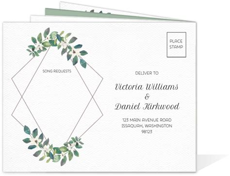 time frame for mailing out wedding invitations frame greenery wedding booklet invitation