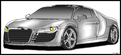 cartoon audi r8 how to draw an audi step by step cars draw cars online