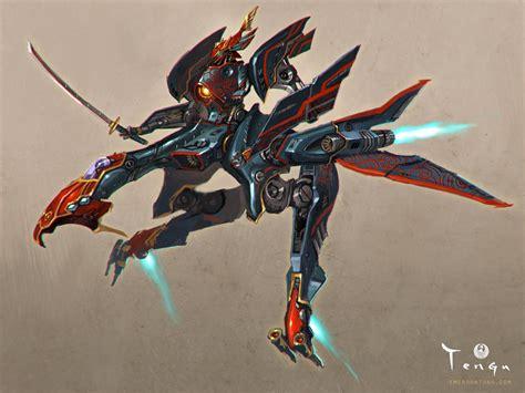 Of Robots Heavy Gun Barrel Ng 4 samurai mechanical tengu by emersontung on deviantart