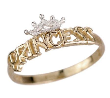 disney princess tiara ring 14k gold qvc