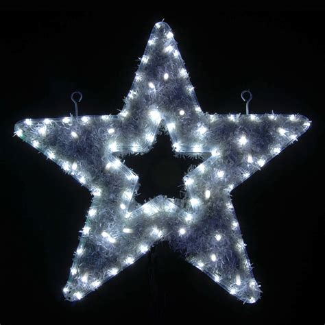 christmas lights journal star white led tinsel indoor outdoor wall rope light ebay
