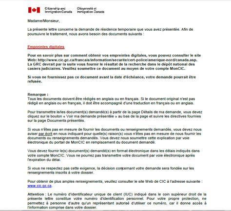 Lettre De Demande De Visa Canadien Canada Grc Empreintes Digitales Requises Certificat De Canadien