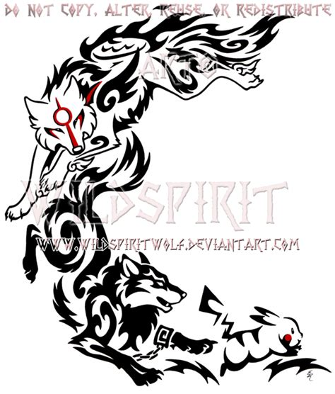 wolf link amaterasu pikachu crescent design by