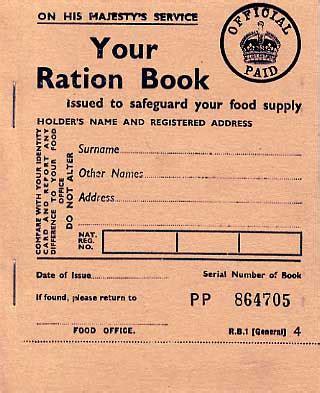 printable ration book template homefront ephemera paperwork leaflets id cards etc