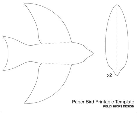 5 best images of birds flying cutouts printable paper