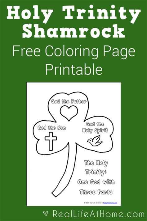 christian shamrock coloring pages holy trinity shamrock coloring page printable third