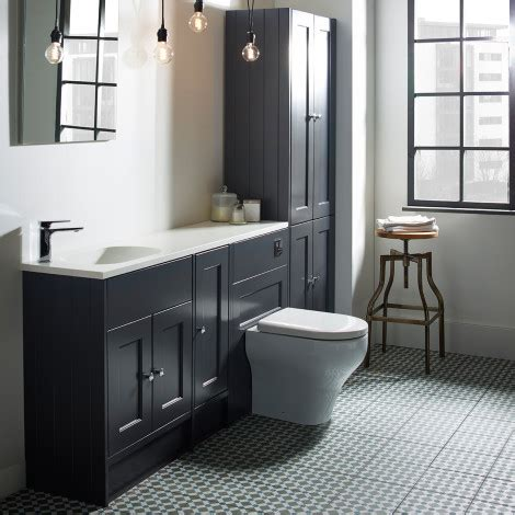 burford slate grey fitted bathroom furniture roper