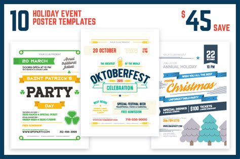 loottm games themes ultimate holiday bundle holiday event poster bundle flyer templates on creative
