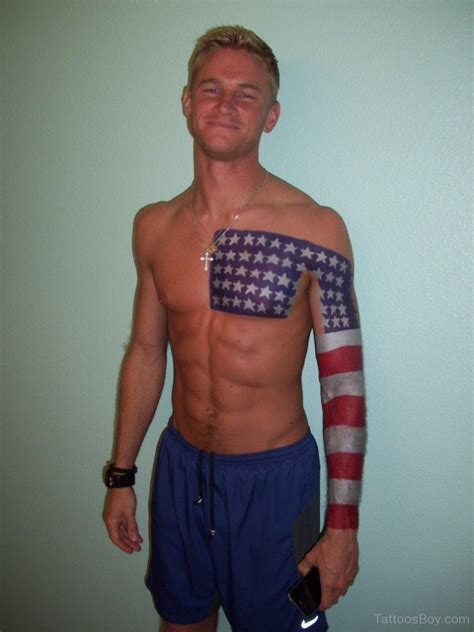 cool american flag tattoos cool american flag on chest designs